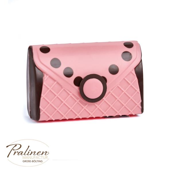 rosa Handtasche aus Schokolade, Schokofiguren online kaufen