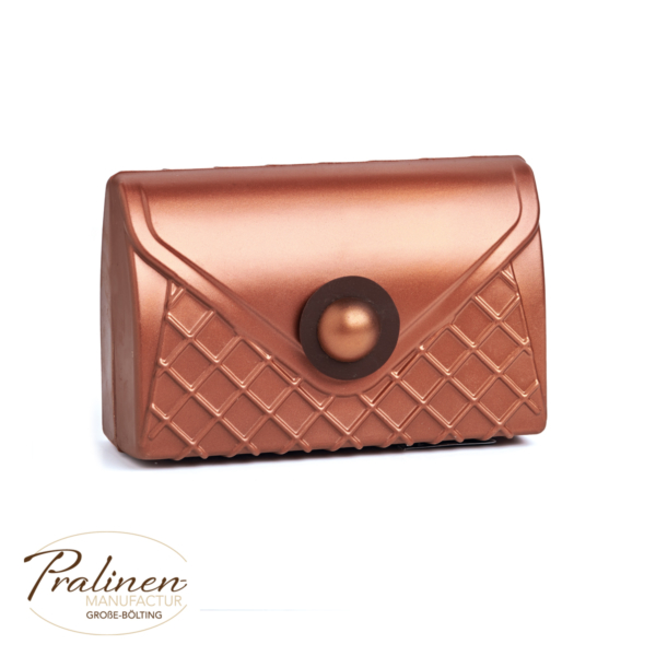 Kupfer-Metallic Handtasche aus Schokolade, Schokofiguren online kaufen