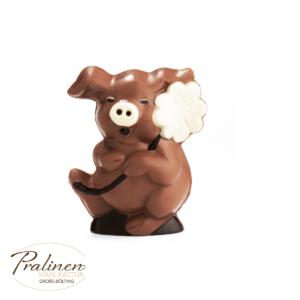 Schokoladenfiguren, Glücksschweinchen/Glücksbringer aus Schokolade