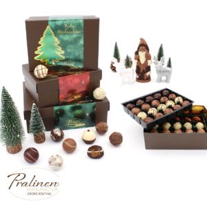 pralinen zu weihnachten, Weihnachtsgeschenk, Pralinen verschenken, Weihnachts Pralinen Kollektion, pralinenmanufactur rhede, bocholt, pralinen direktverkauf