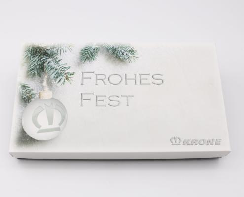 Pralinen, Scholadengeschenke, Geschenk für Kundne, Geschenk mit Logo, Firmengeschenk Weihnachten