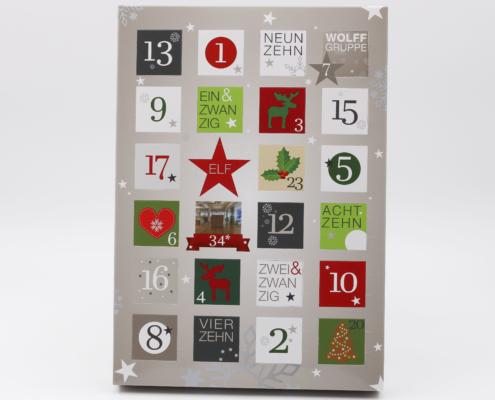 Adventskalender Werbegeschenk, Pralinen, Scholadengeschenke, Geschenk für Kundne, Geschenk mit Logo, Firmengeschenk Weihnachten